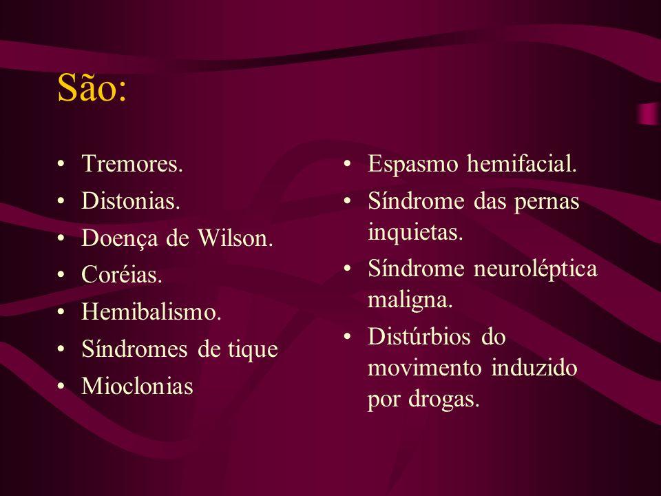 OUTROS DISTÚRBIOS DO MOVIMENTO ESCOLA DE MEDICINA UCPEL Prof. Antonio J. V. Pinho