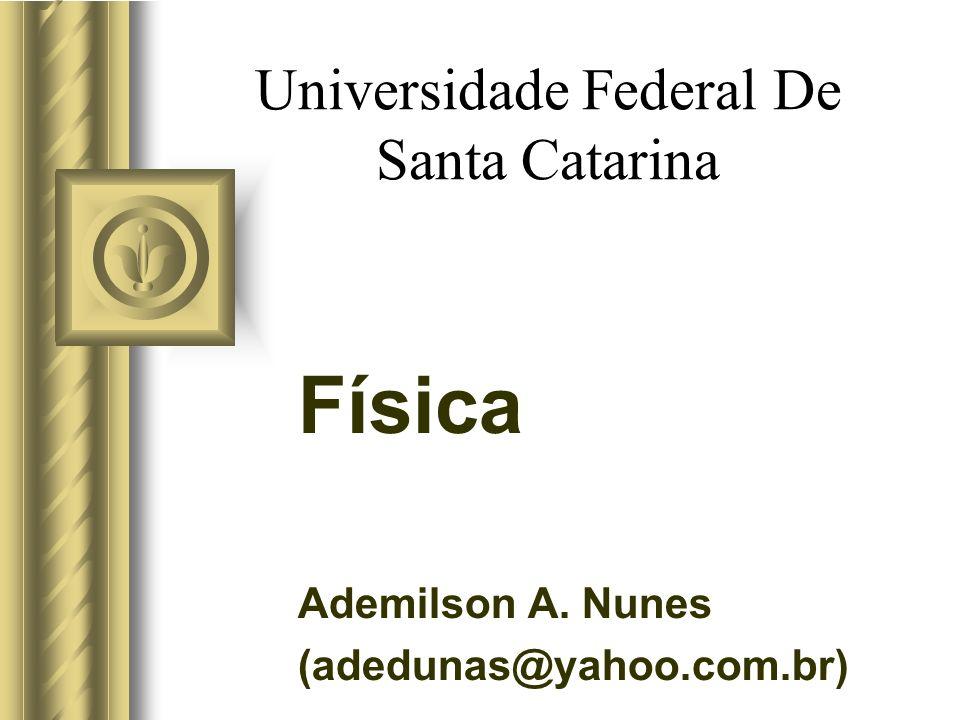 Universidade Federal De Santa Catarina Física Ademilson A. Nunes (adedunas@yahoo.com.br) Esta apresentação irá envolver algum debate com a platéia, o