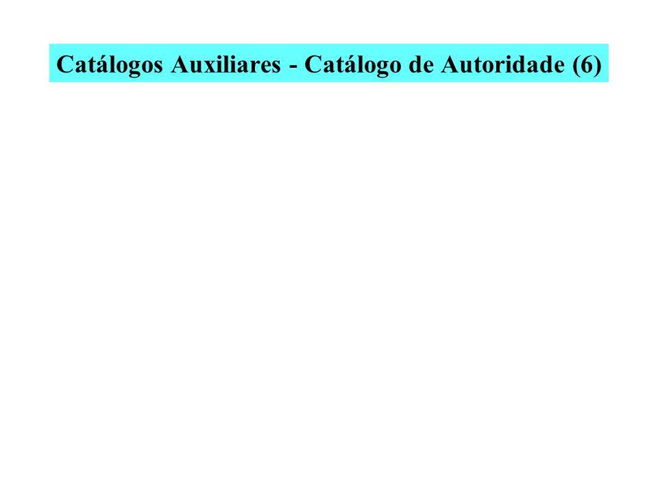 Catálogos Auxiliares - Catálogo de Autoridade (5) Dias, Gonçalves, 1823-1864. x Dias, Antonio Gonçalves, 1823-1864. x Gonçalves Dias, Antonio, 1823-18