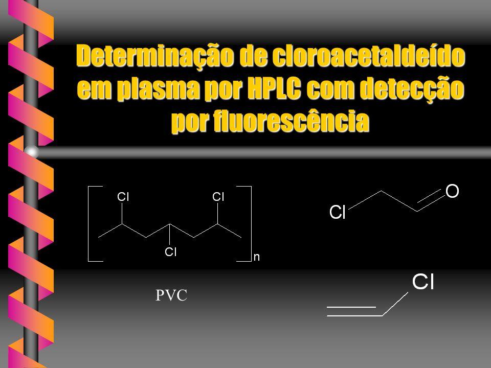 Determinação de cloroacetaldeído em plasma por HPLC com detecção por fluorescência PVC