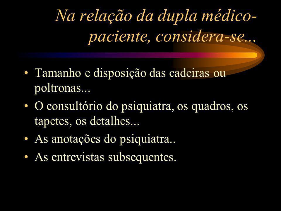 Na relação da dupla médico- paciente, considera-se...