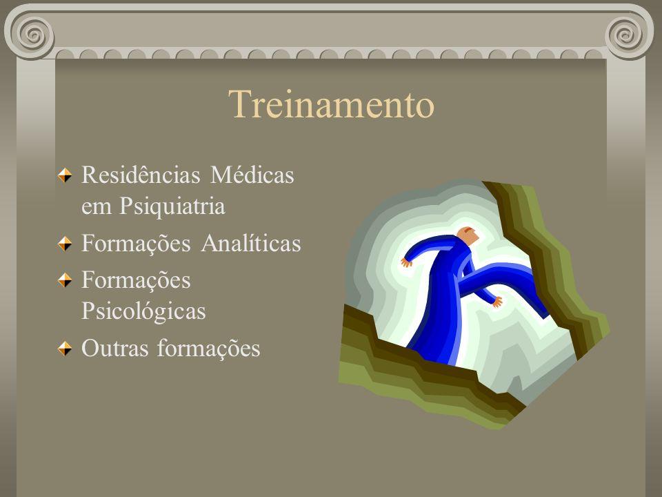 Treinamento Residências Médicas em Psiquiatria Formações Analíticas Formações Psicológicas Outras formações