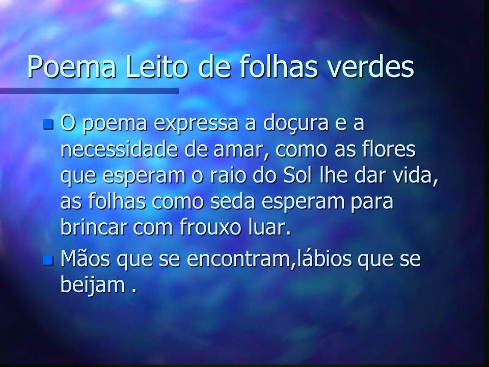 Nome do autor do poema Antônio Gonçalves Dias