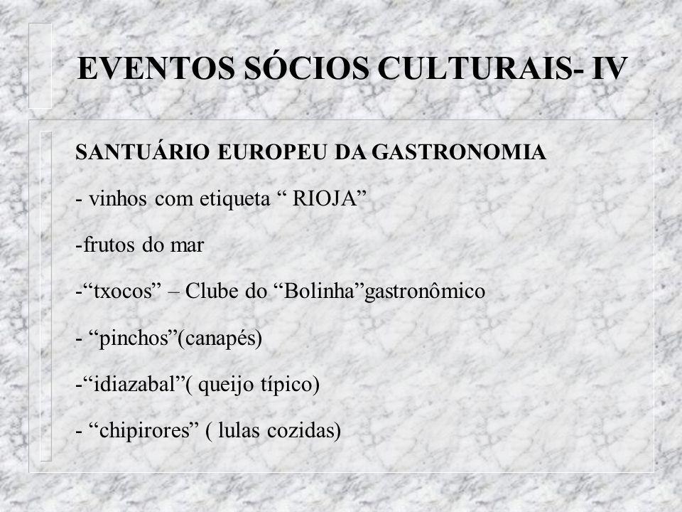 SANTUÁRIO EUROPEU DA GASTRONOMIA - vinhos com etiqueta RIOJA -frutos do mar -txocos – Clube do Bolinhagastronômico - pinchos(canapés) -idiazabal( quei