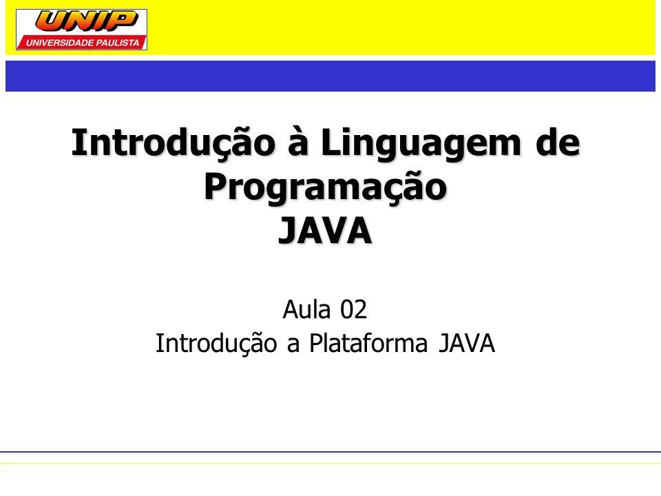 Histórico de Versões (1) 1.0 (1996) – distribuição inicial: JVM + APIs Java + ferramentas de desenvolvimento.