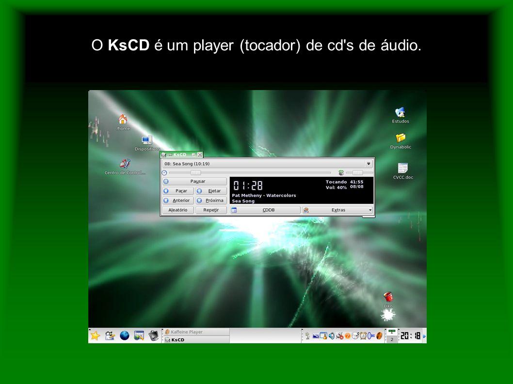 O KsCD é um player (tocador) de cd's de áudio.
