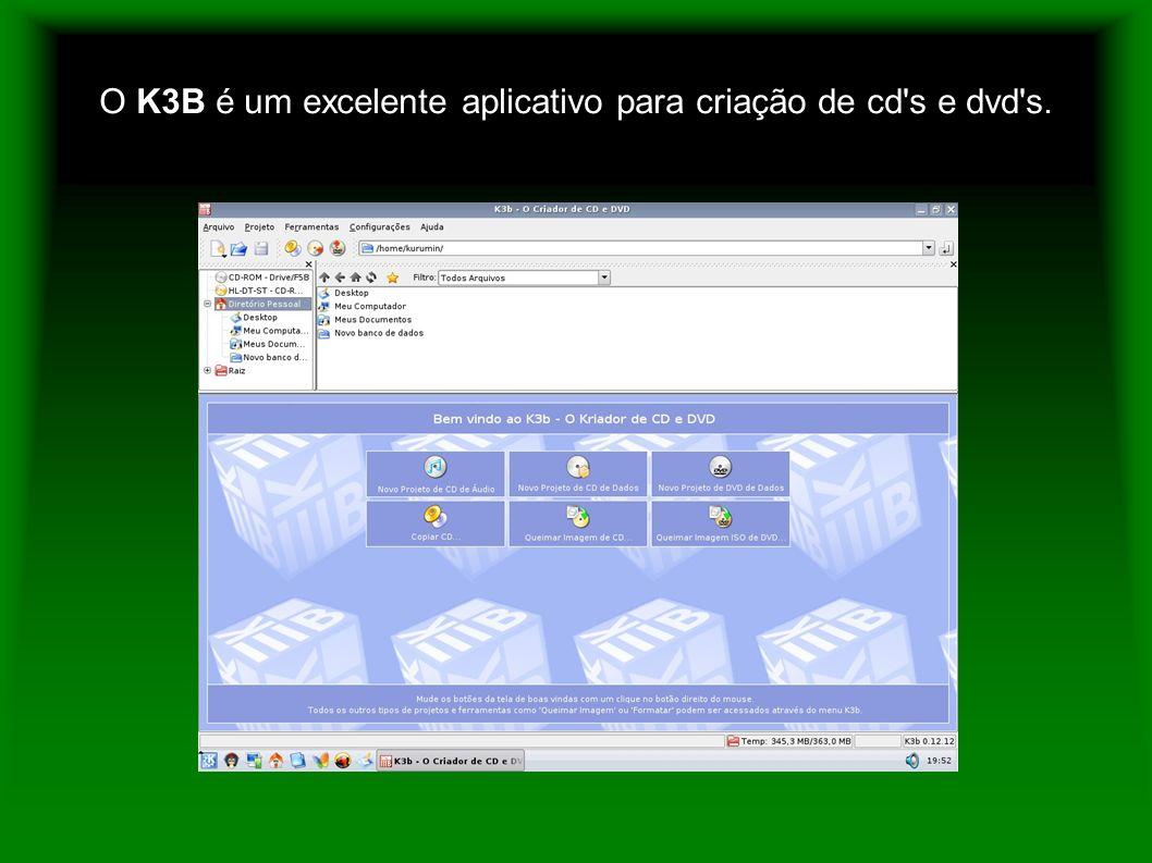 O K3B é um excelente aplicativo para criação de cd's e dvd's.