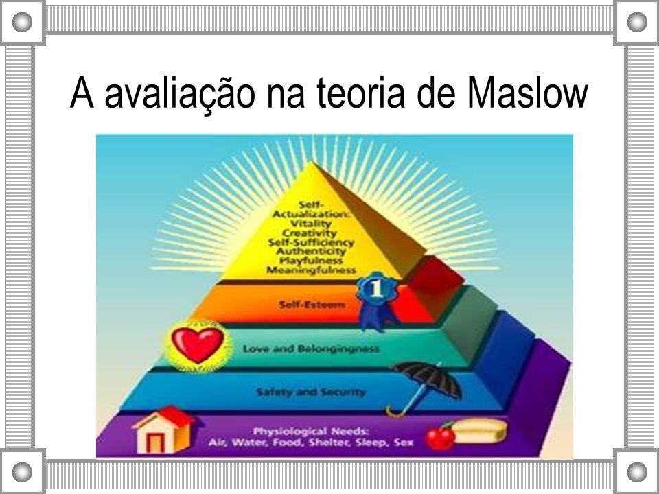 A avaliação na teoria de Maslow