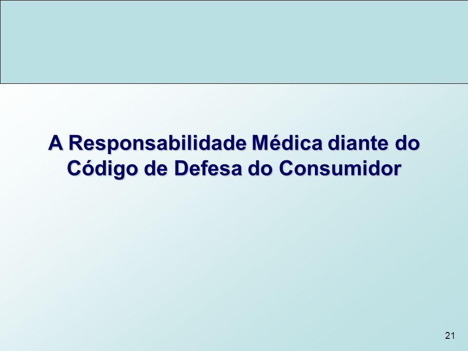 21 A Responsabilidade Médica diante do Código de Defesa do Consumidor