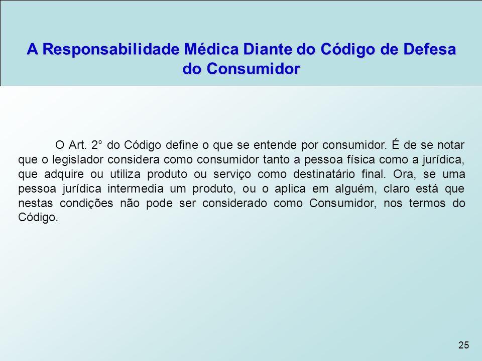 25 O Art.2° do Código define o que se entende por consumidor.