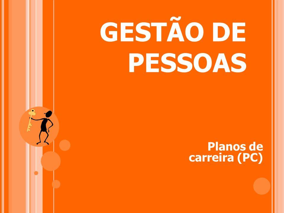 GESTÃO DE PESSOAS Planos de carreira (PC)