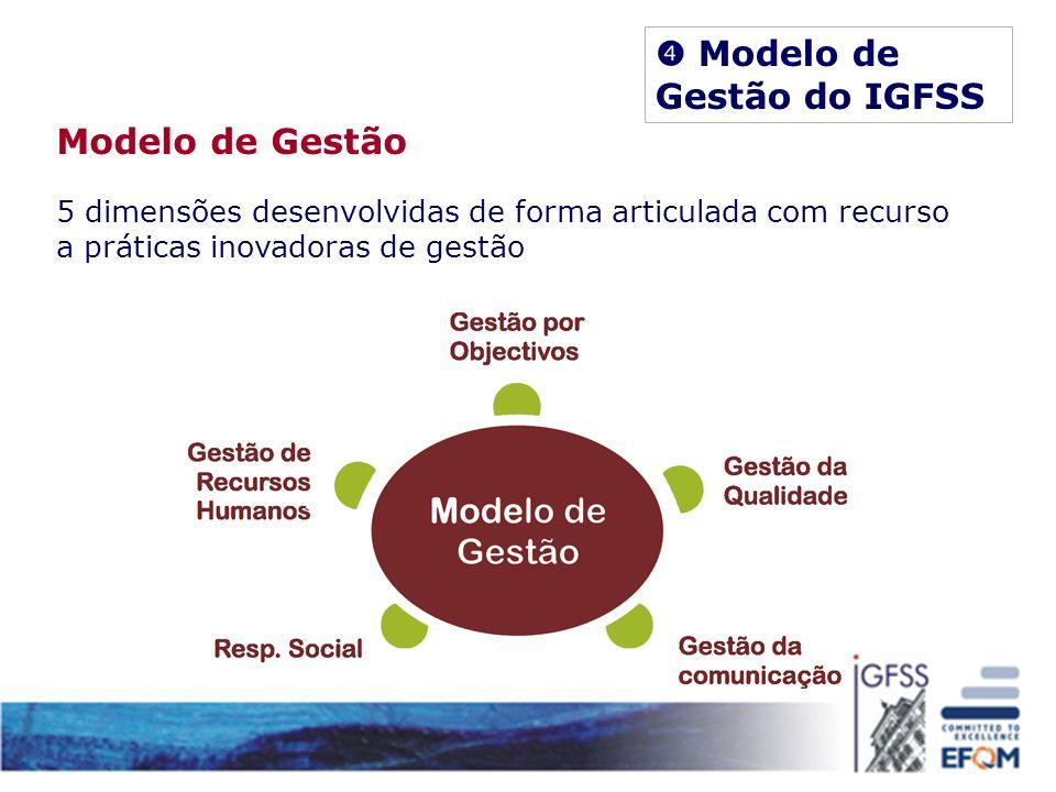 Modelo de Gestão 5 dimensões desenvolvidas de forma articulada com recurso a práticas inovadoras de gestão
