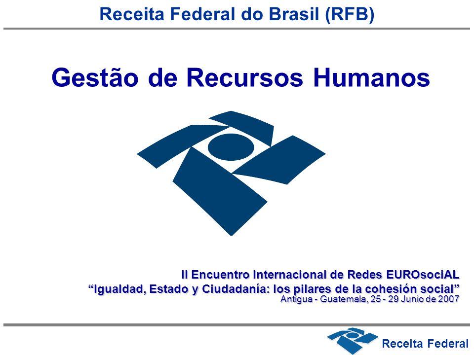 Receita Federal Receita Federal do Brasil (RFB) Gestão de Recursos Humanos II Encuentro Internacional de Redes EUROsociAL Igualdad, Estado y Ciudadaní