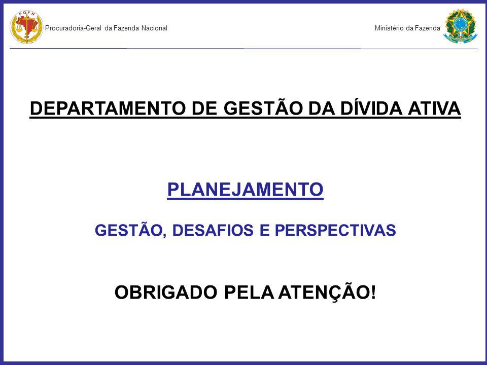 Ministério da FazendaProcuradoria-Geral da Fazenda Nacional DEPARTAMENTO DE GESTÃO DA DÍVIDA ATIVA PLANEJAMENTO GESTÃO, DESAFIOS E PERSPECTIVAS OBRIGA