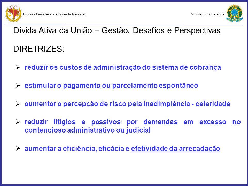 Ministério da FazendaProcuradoria-Geral da Fazenda Nacional Dívida Ativa da União – Gestão, Desafios e Perspectivas 9.