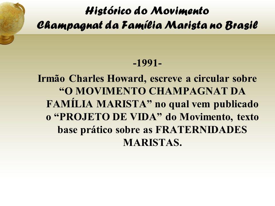 Histórico do Movimento Champagnat da Família Marista no Brasil -1991- Irmão Charles Howard, escreve a circular sobre O MOVIMENTO CHAMPAGNAT DA FAMÍLIA