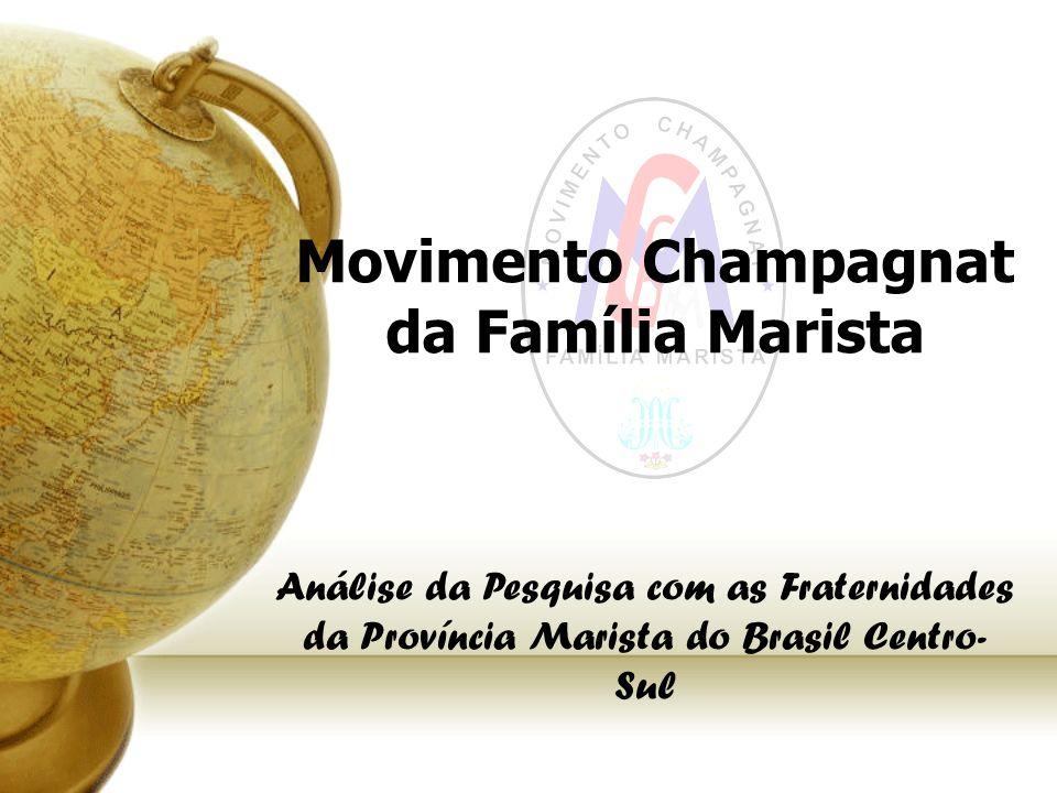 Movimento Champagnat da Família Marista Análise da Pesquisa com as Fraternidades da Província Marista do Brasil Centro- Sul