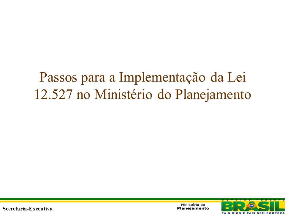 Secretaria Executiva Secretaria-Executiva Passos para a Implementação da Lei 12.527 no Ministério do Planejamento