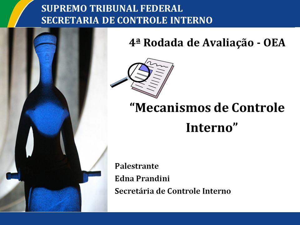 SUPREMO TRIBUNAL FEDERAL SECRETARIA DE CONTROLE INTERNO 4ª Rodada de Avaliação - OEA Mecanismos de Controle Interno Palestrante Edna Prandini Secretár