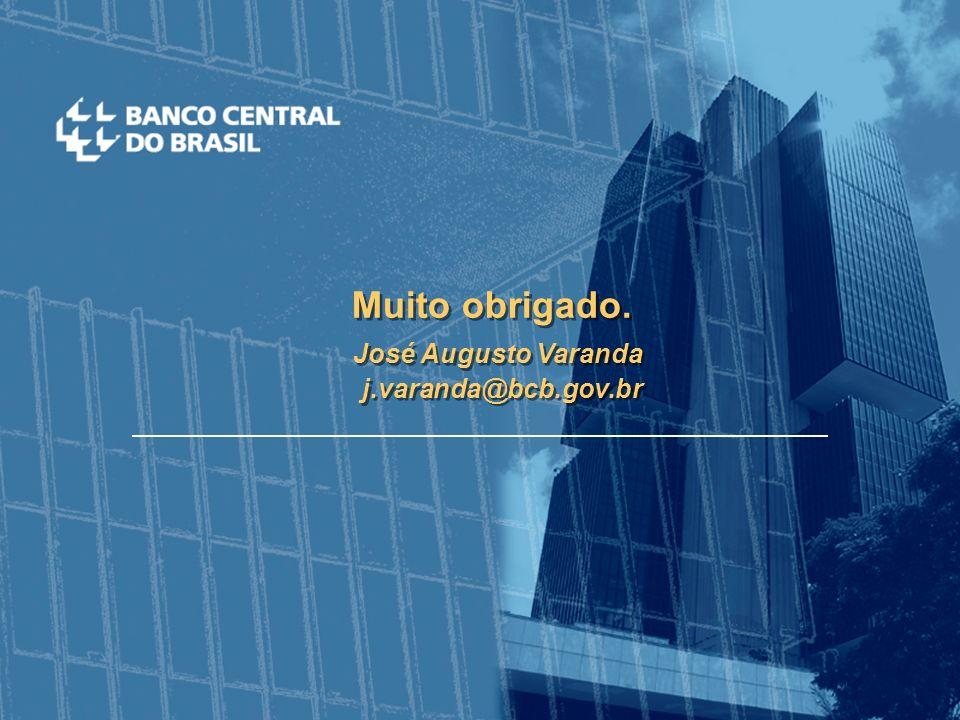 Muito obrigado. José Augusto Varanda j.varanda@bcb.gov.br Muito obrigado.