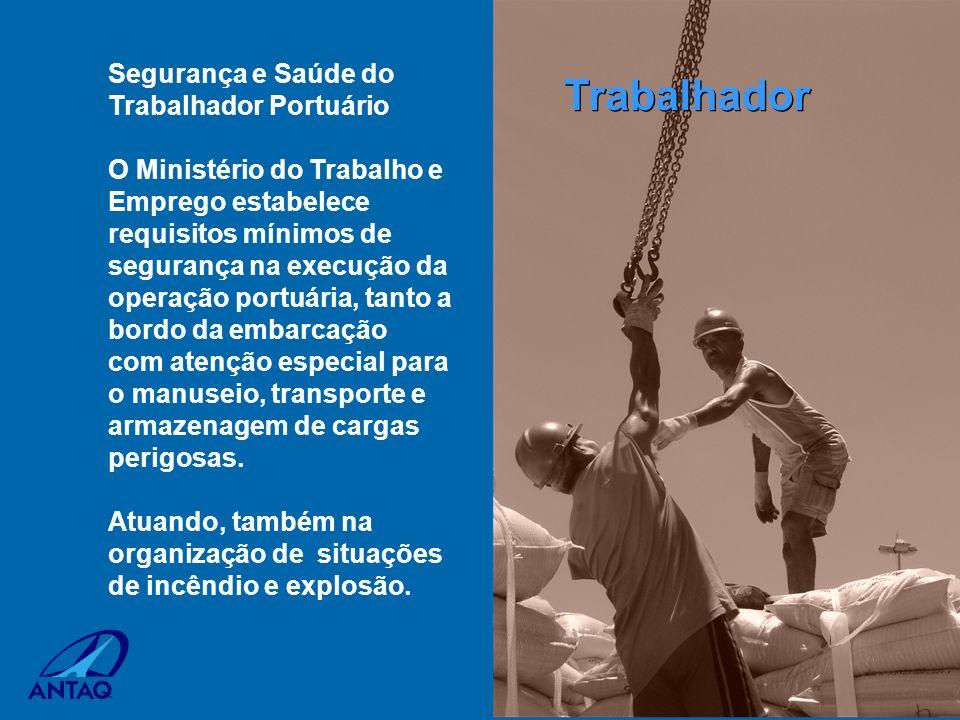 Segurança e Saúde do Trabalhador Portuário O Ministério do Trabalho e Emprego estabelece requisitos mínimos de segurança na execução da operação portu