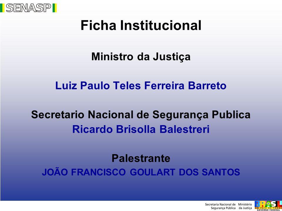 PRONASCI REDE NACIONAL DE ALTOS ESTUDOS EM SEGURANÇA PÚBLICA (RENAESP).
