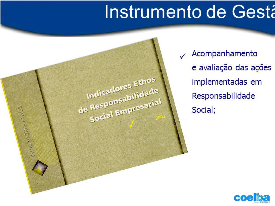 Instrumento de Gestão Acompanhamento e avaliação das ações implementadas em Responsabilidade Social;