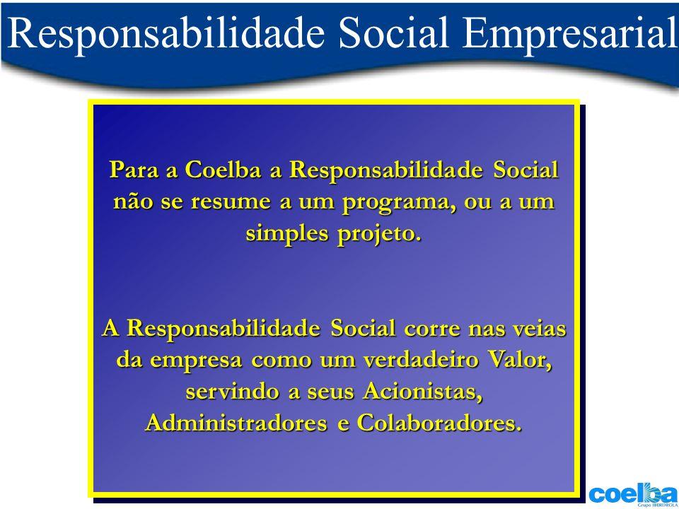 Para a Coelba a Responsabilidade Social não se resume a um programa, ou a um simples projeto. A Responsabilidade Social corre nas veias da empresa com