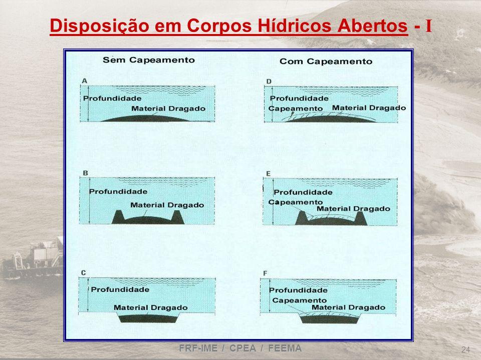FRF-IME / CPEA / FEEMA 24 Disposição em Corpos Hídricos Abertos - I