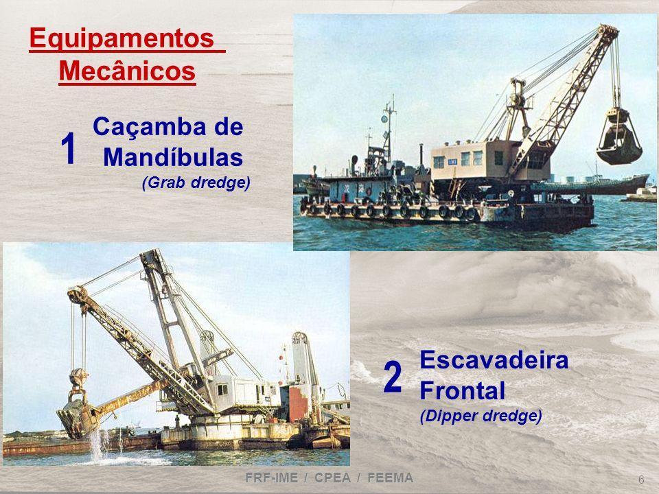 FRF-IME / CPEA / FEEMA 6 Caçamba de Mandíbulas (Grab dredge) 1 Equipamentos Mecânicos Escavadeira Frontal (Dipper dredge) 2