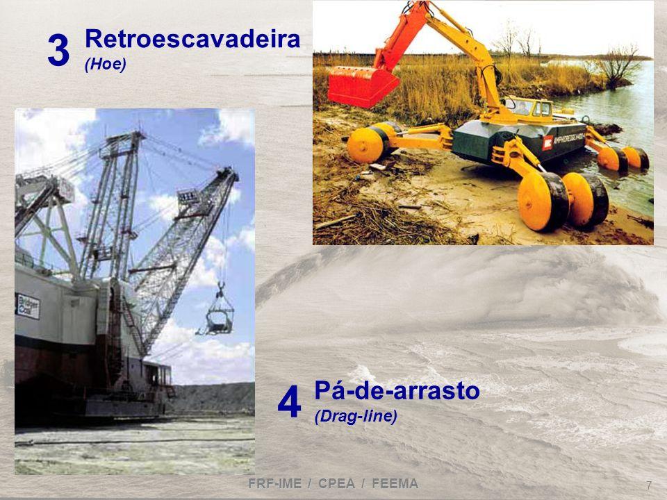 FRF-IME / CPEA / FEEMA 7 Retroescavadeira (Hoe) 3 Pá-de-arrasto (Drag-line) 4