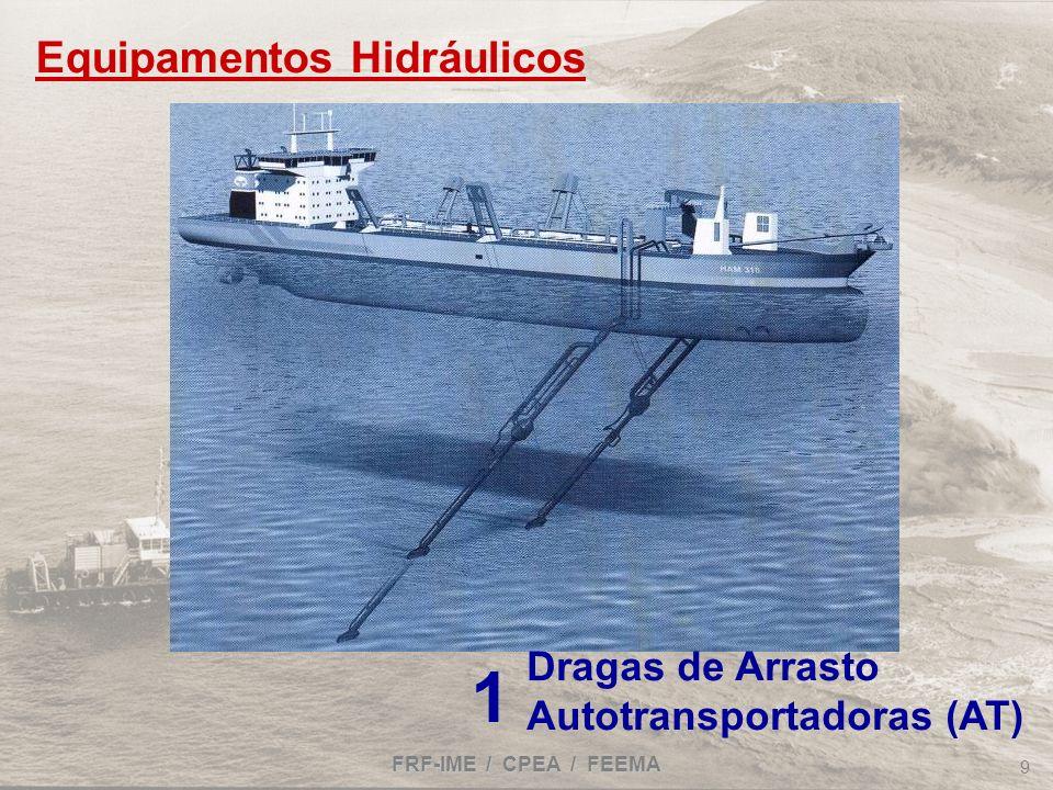 FRF-IME / CPEA / FEEMA 9 Dragas de Arrasto Autotransportadoras (AT) 1 Equipamentos Hidráulicos