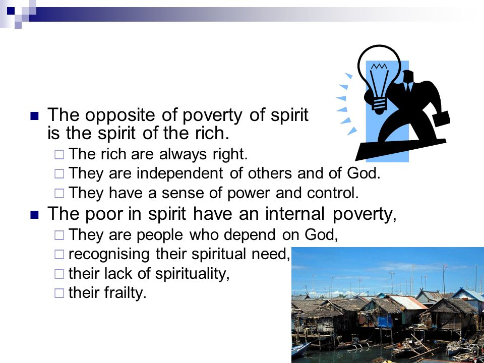 Is poverty blessed.