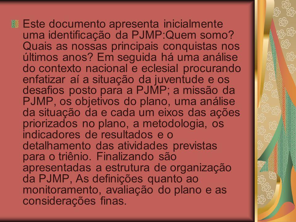 Este documento apresenta inicialmente uma identificação da PJMP:Quem somo? Quais as nossas principais conquistas nos últimos anos? Em seguida há uma a