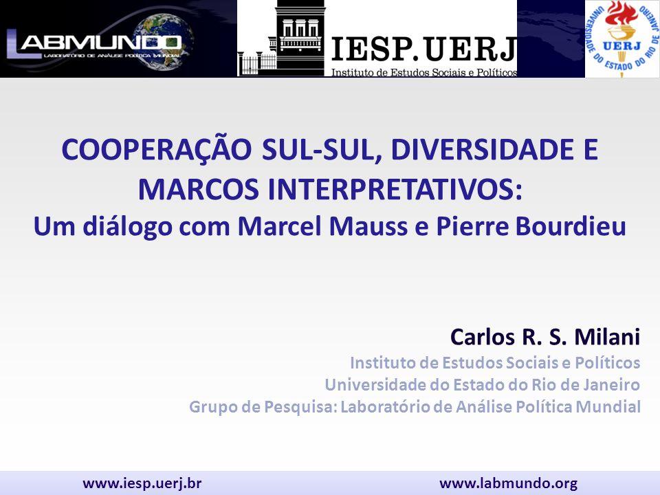 Carlos R. S. Milani Instituto de Estudos Sociais e Políticos Universidade do Estado do Rio de Janeiro Grupo de Pesquisa: Laboratório de Análise Políti