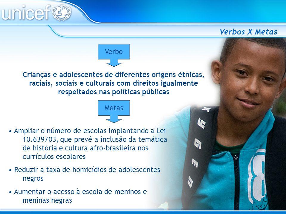 Ampliar o número de escolas implantando a Lei 10.639/03, que prevê a inclusão da temática de história e cultura afro-brasileira nos currículos escolar
