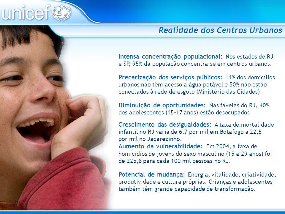 Plataforma do UNICEF para os Centros Urbanos Brasileiros Objetivo Geral Contribuir para que cada criança e adolescente que vive em comunidades populares de centros urbanos brasileiros tenha seus direitos protegidos, respeitados e garantidos.