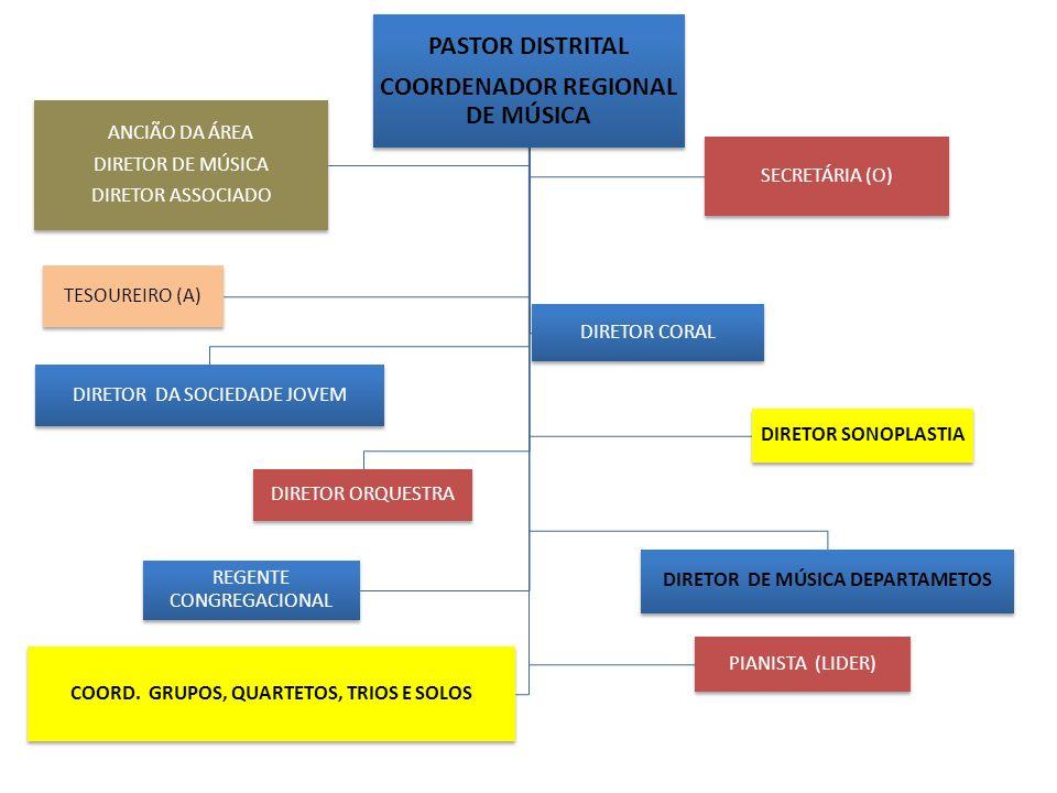 PASTOR DISTRITAL COORDENADOR REGIONAL DE MÚSICA DIRETOR DA SOCIEDADE JOVEM DIRETOR DE MÚSICA DEPARTAMETOS DIRETOR ORQUESTRA ANCIÃO DA ÁREA DIRETOR DE