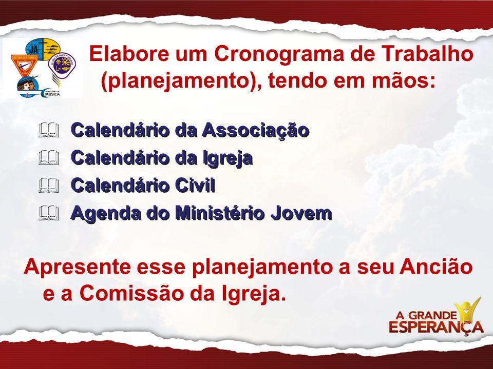 Calendário da Associação Calendário da Igreja Calendário Civil Agenda do Ministério Jovem Calendário da Associação Calendário da Igreja Calendário Civ