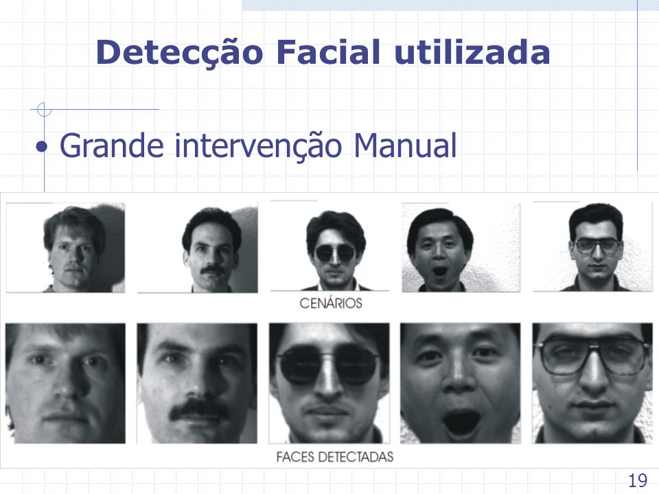 Detecção Facial utilizada Grande intervenção Manual 19