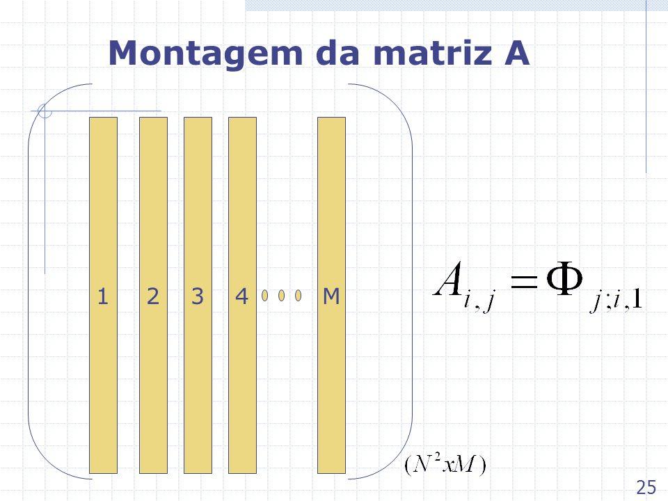 Montagem da matriz A 134M2 25