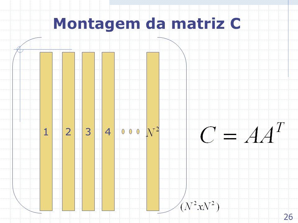Montagem da matriz C 134 2 26