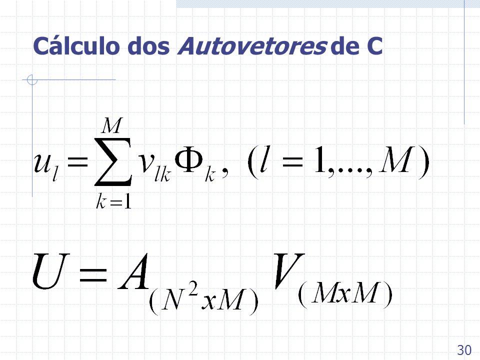 Cálculo dos Autovetores de C 30