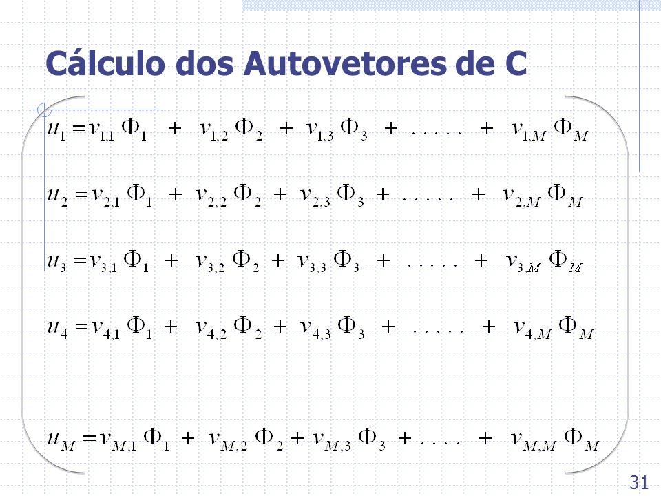 Cálculo dos Autovetores de C 31