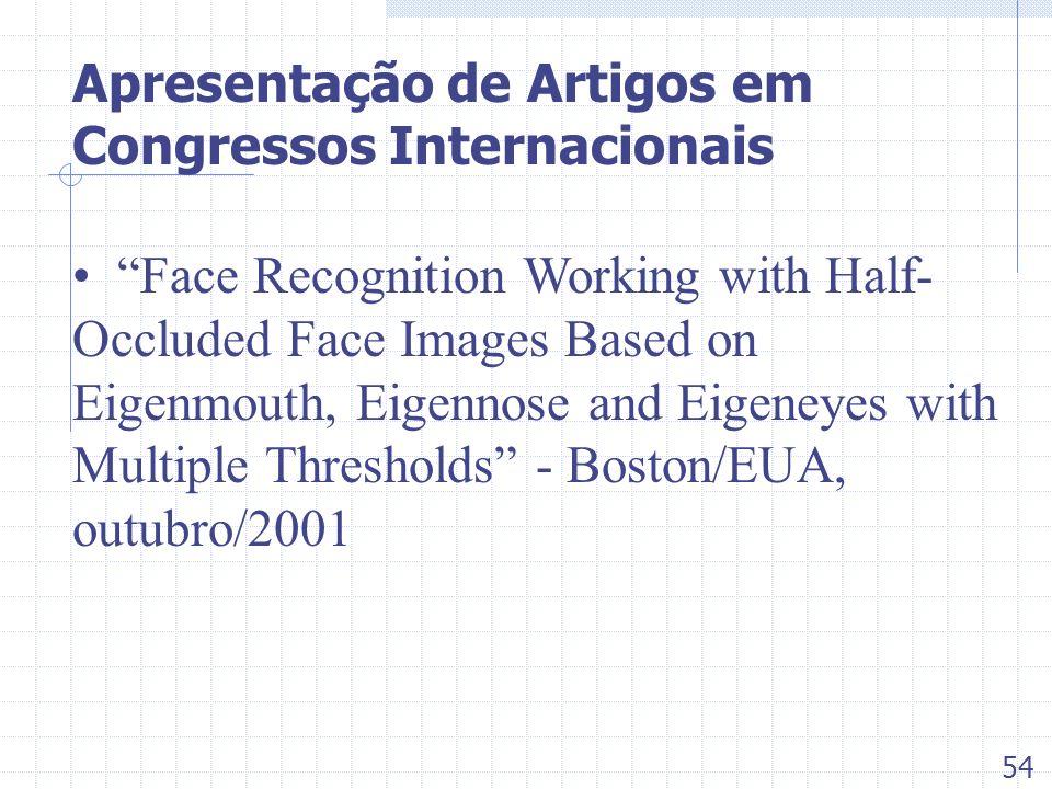 Apresentação de Artigos em Congressos Internacionais Face Recognition Working with Half- Occluded Face Images Based on Eigenmouth, Eigennose and Eigen