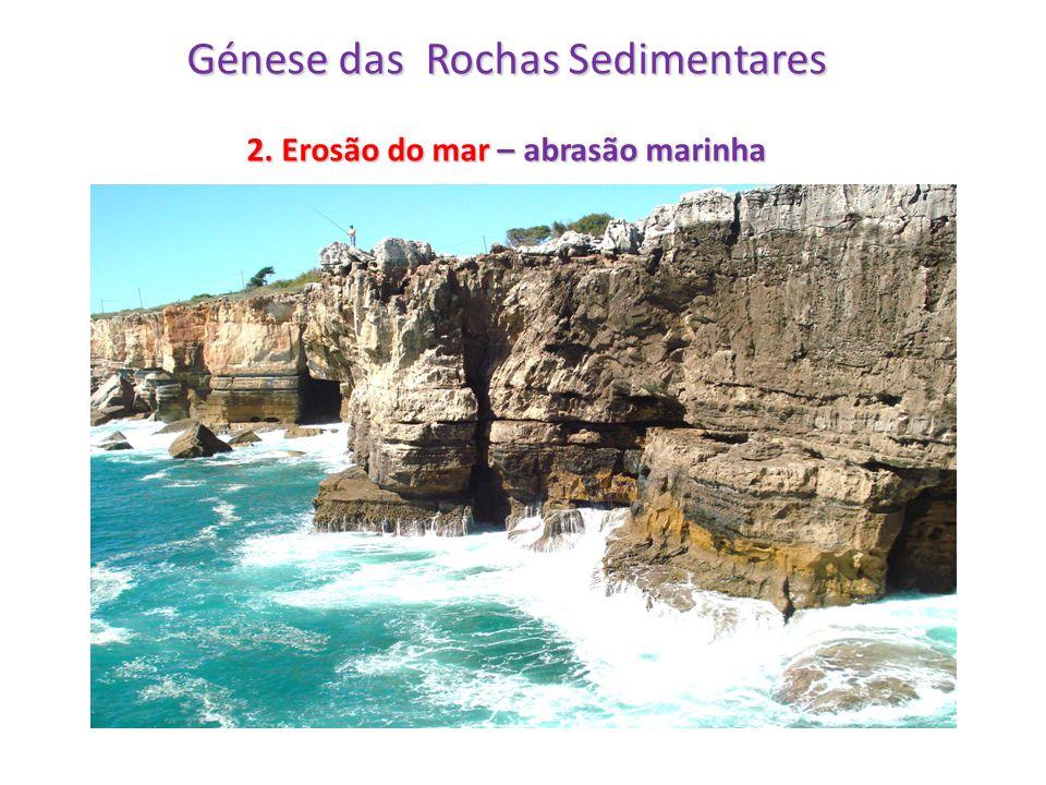 Génese das Rochas Sedimentares 2. Erosão do mar – abrasão marinha