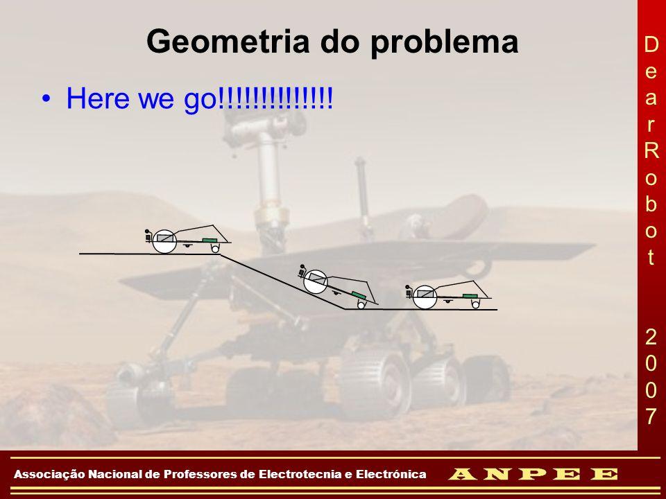 DearRobot 2007DearRobot 2007 Associação Nacional de Professores de Electrotecnia e Electrónica Geometria do problema Here we go!!!!!!!!!!!!!!
