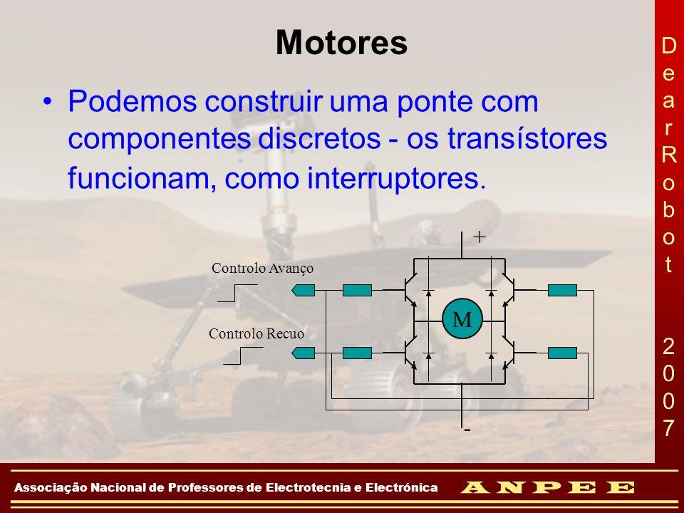 DearRobot 2007DearRobot 2007 Associação Nacional de Professores de Electrotecnia e Electrónica Motores Podemos construir uma ponte com componentes dis