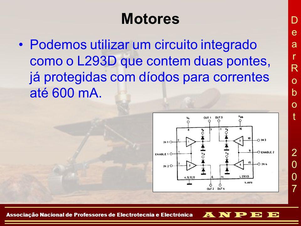 DearRobot 2007DearRobot 2007 Associação Nacional de Professores de Electrotecnia e Electrónica Motores Podemos utilizar um circuito integrado como o L