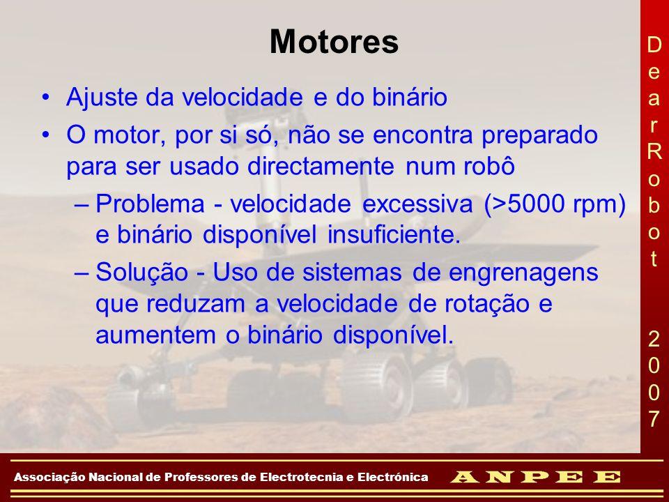 DearRobot 2007DearRobot 2007 Associação Nacional de Professores de Electrotecnia e Electrónica Motores Ajuste da velocidade e do binário O motor, por